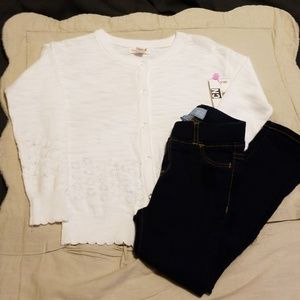 TG 4T Cardigan & Gap Jegging Outfit